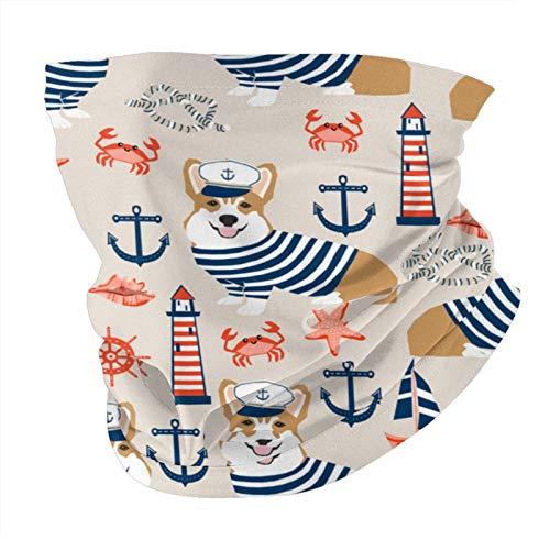 Xinflag@10 Corgi - Pauelo nutico de verano para marinero, velero, corgis, para perro, a prueba de polvo, resistente al viento, variedad de cabeza, pasamontaas para mujeres y hombres