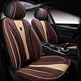 N\A Car Seat Cover Set Completo Impermeable de Cuero de imitación Universal Adecuado for Audi A3 / A4 / A5 / A6 / A8 / P3 / P5 / RS4 (Airbag Compatible) (Color : Coffee)