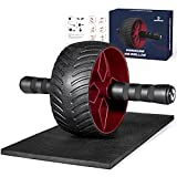Vinsguir Ultra-Wide Ab Roller Wheel, Abs Workout Equipment for Abdominal & Core Strength Training, Exercise Wheels for Home Gym Fitness, Ab Machine with Knee Pad Accessories…