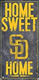 Fan Creations MLB San Diego Padres Unisex San Diego Padres Home Sweet Home Sign, Team Color, 6 x 12 (M0653-Padres)