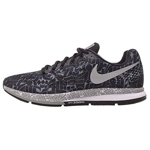 Nike Men's Air Zoom Pegasus 33 Rostarr, Black/Reflect Silver-Dark Grey, 10 M US