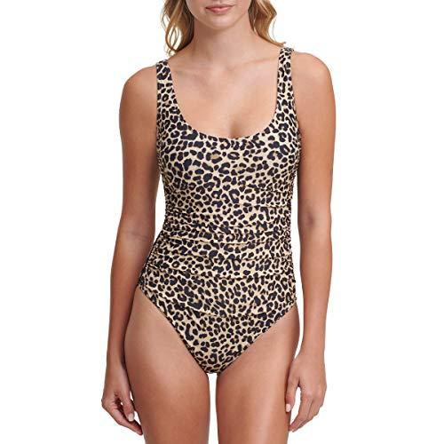 DKNY womens One Piece Swimsuit, Suntan, 4 US