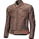 Held Motorradjacke mit Protektoren Motorrad Jacke Hot Rock Lederjacke braun 52, Herren, Chopper/Cruiser, Ganzjährig