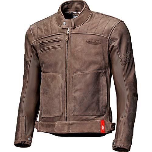 Held Motorradjacke mit Protektoren Motorrad Jacke Hot Rock Lederjacke braun 48, Herren, Chopper/Cruiser, Ganzjährig