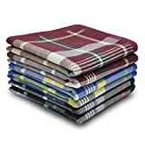 1. Selected Hanky 100% Cotton Men's Handkerchief 6 Piece Gift Set