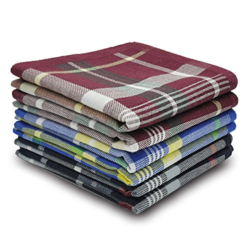 Best handkerchief - Selected Hanky 100% Cotton Men's Handkerchief 6 Piece Gift Set