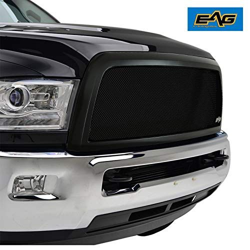 EAG Replacement Grille Black Stainless Steel Wire Mesh with ABS Shell Fit for 13-18 Dodge Ram 2500/3500