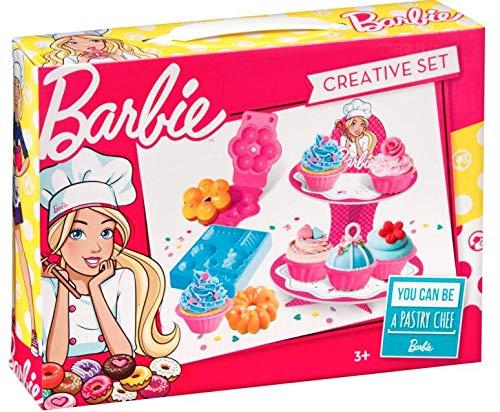 Mega Creative Barbie - Muffin- und Cupcake-Förmchen für Mädchen | Set Zum Dekorieren von Muffin für Kinder | Konditoreizubehör für Kinder
