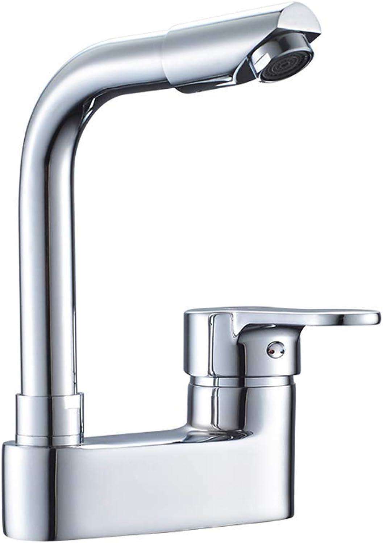 ZTMN Kupfer Doppel Loch Becken heien und kalten Wasserhahn Badezimmer DREI-Loch-Badezimmer Waschbecken Waschbecken kann gedreht Werden Wasserhahn Multi-Stil Optional (Design  Wasserhahn)