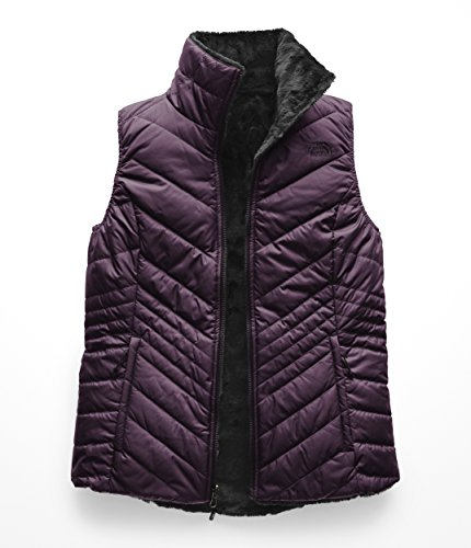 The North Face Women's Mossbud Insulated Revesible Vest - Galaxy Purple & Weathered Black - S