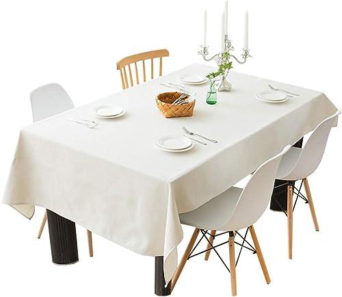 marcas en línea venta barata Xhh Mantel Cubierta de Tabla Hogar Hogar Hogar Mantel Rectangular Lino Mantel a Prueba de Polvo Beige Grueso y fácil de Limpiar Mantel (Color   Beige, Talla   140  180CM)  alta calidad y envío rápido