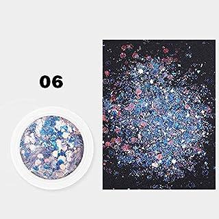 ICYCHEER Mix Size Holografische Zeshoek Kleurrijke Laser Pailletten Glanzende Sparkly Glitter Voor Nagel Art Decoratie MK0...