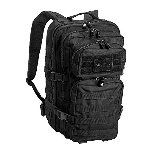 Mil-Tec Military Army Patrol Molle Assault Pack Tactical Combat Rucksack Backpack (36 Liter, Black)