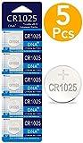 DNA 5 pilas de botón CR1025 de litio, 3 V