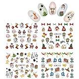 KADS Pegatina Uñas Festival Navidad Uñas Decal para DIY Uñas Artes Pegatina Uñas al Agua para Uñas Herramiento para Decoración (estilo de navidad 3)