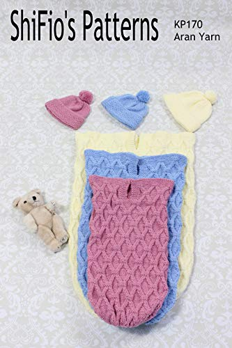 Knitting Pattern - KP170 - baby cocoon papoose- preemie, 0-3mths, 3-6mths- Aran yarn- UK Terms (English Edition)