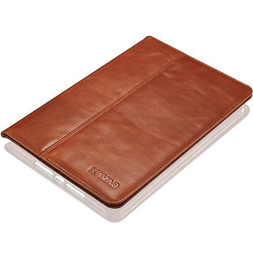 KAVAJ Lederhülle Berlin geeignet für Apple iPad Mini 4 Hülle Echtleder Hülle Cognac-Braun aus echtem Leder mit Stand & Auto Schlaf/Aufwachen Funktion. Dünnes Smart-Cover Schutzhülle