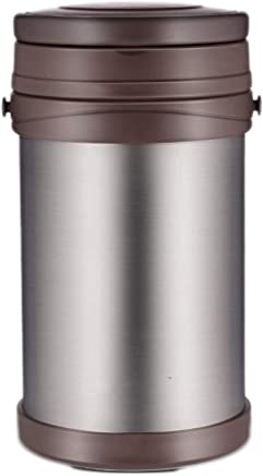 ZLDGYG Thermos thermal insulation lunch box stainless steel lunch jar bowl about cups pouch with black
