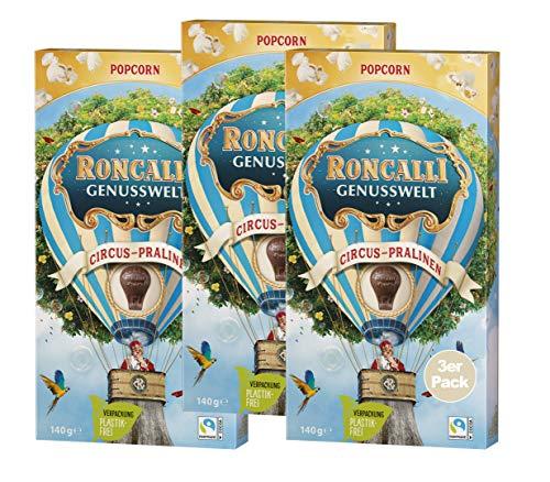 Roncalli Circus-Praline Popcorn 140g, 3er Pack (3x 140g)