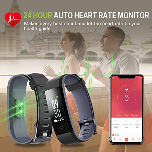 DealFry Smart Band ID115 Bluetooth Fitness Smart Watch with Waterproof Body Functions Like Steps & Calorie Counter, Heart Rate Monitor, Message, Call Reminder Activity Tracker (Unisex   Black)