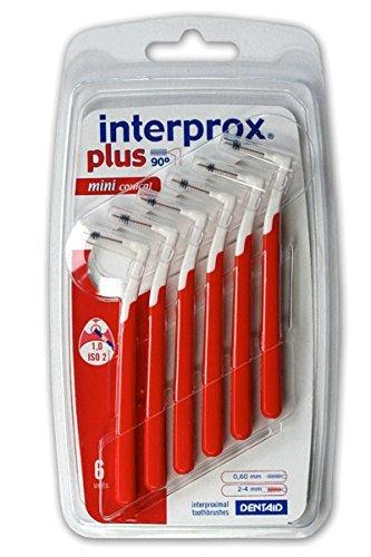 3x Interprox plus Interdentalbürsten rot mini conical 6er Pack (3x 6er Pack)