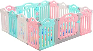 ZXRET Baby Playpens Plastic Baby Fence Baby Indoor Playground Child Fence Child Safety Fence Portable Panel