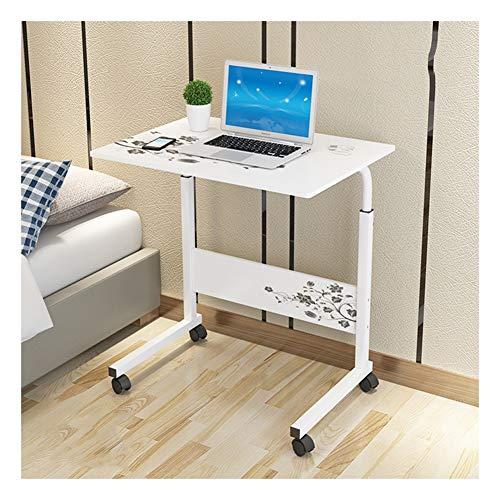 DZWLYX Mesa de Centro de Sala Ruedas Sofá Mesa Mesas ,Ajustable Mesa De Ordenador Portatil con ,Adecuado para Dormitorio, Sala De Estar (Color : White K, Size : 80x40x90cm)