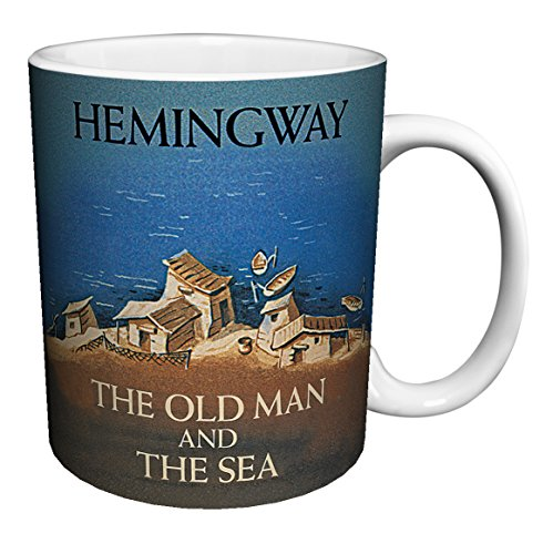 Ernest Hemingway Old Man and the Sea Classic Literature Literary Vintage Book Cover Art Decorative Ceramic Gift Coffee (Tea, Cocoa) 11 Oz. Mug