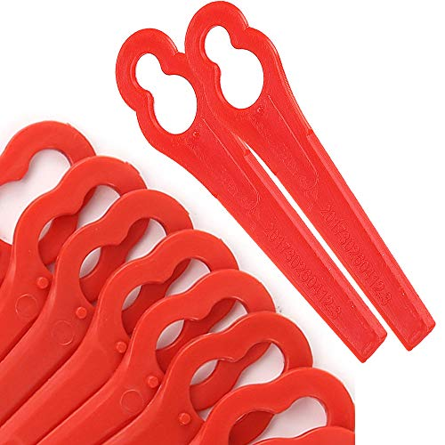 Chuancheng 100Pcs Plastic Cutter Blades Replacement for Stihl PolyCut 2-2 Garden Lawn Mower Trimmer Blades 4008 007 1000 Grass Cutter Tool (100)
