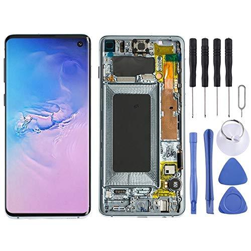 Reparatie Onderdelen Vervanging LCD-scherm en Digitizer Volledige montage met Frame voor Galaxy S10 (Zwart), Blauw