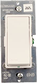 Leviton VP0SR-1LZ Digital Matching Remote Switch, White/Ivory/Light Almond