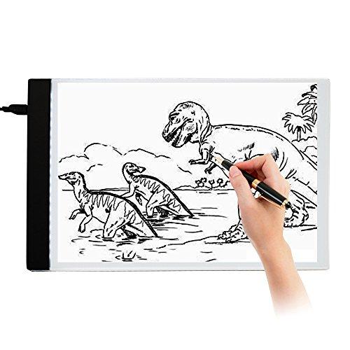 LED Leuchttisch A4 Leuchtkasten Lightpad Leuchtplatte zum Zeichnen USB-Stromkabel für Künstler Zeichnen Skizzieren Animation Designen Schablonieren