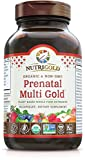 Organic Prenatal Multi Gold - 90 Veggie Capsules, Plant-Based, Whole-Food Multivitamin Supplement with Co-Factors for Superior Absorption and No Unpleasant Aftertaste