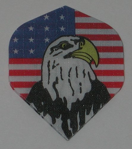 US Darts - 1 Set (3 Flights) American Eagle Nylon Standard Dart Flights - Cloth, Fabric, Ripstop