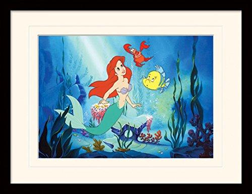 1art1 Arielle Die Meerjungfrau - Ariel Gerahmtes Bild Mit Edlem Passepartout | Wand-Bilder | Kunstdruck Poster Im Bilderrahmen 40 x 30 cm