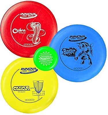 Innova Disc Golf Beginner DX Starter Set 160-169g - Colors May Vary