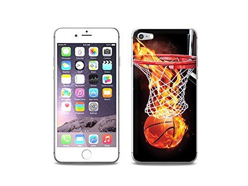 etuo Handyhülle für Apple iPhone 7 - Hülle Foto Case - Zeit für Basketball - Handyhülle Schutzhülle Etui Case Cover Tasche für Handy