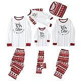 Alueeu Pijama Familiar de Navidad Invierno Conjunto 2 Piezas Pantalon y Top Ropa Dormir para Mamá Papá Niños Bebé Casual Homewear Sets El nuevo
