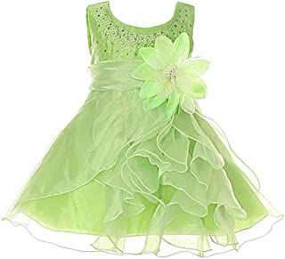 Baby & Girls Crystal Organza Rhinestone Party Pageant Special Occasion Dress
