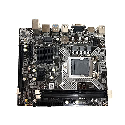 S-YUWEN H81 Computer Motherboard LGA 1150 Dual Channel DDR3 1600/1333 Memory USB 3.0 100M/Gigabit Network Card Mainboard Compatible for Intel 1150 Core I3 I5