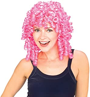 pink curly clown wig