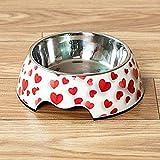 Alimento para Mascotas Aparato de Agua Acero Inoxidable Recipiente para Perros Alimentos Doble Capa Agua de alimentación para Mascotas Suministros para Gatos