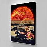 キャンバス塗装 ドライブオンファイアプラネットウォールアートルームの装飾ポスターとプリント HD壁画Quadri Su Tela Per Soggiorno 50*75cm