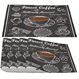 Moslion Coffee Placemats,Cafe Items Finest Coffee Theme with Almond Caramel Coconut Hazelnut Raspberry Place Mats for Dining Table/Kitchen Table,Waterproof Washable Outdoor Dinner Table Mats,Set of 4