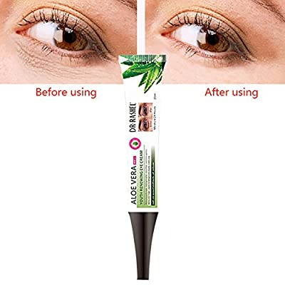 Eye Gel for Dark Circles and Puffiness. Reduce Wrinkles, Bags & Crows Feet. Natural & 100 Pure Firming Anti Aging Gel for Men and Women with Aloe Vera(20ML) by Allouli