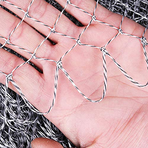 BESPORTBLE Fish Landing Net Fishing Woven Hand Net Fishing Net Tear Resistant Fish Catching Net Fishing Accessories (Hole 60 Caliber)