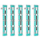 Potenciómetro deslizante de 5 Piezas Faders Mezcladores de 75 mm B10K Fader Mezclador deslizante Recto de Doble Canal...