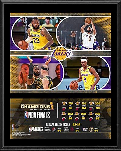 Los Angeles Lakers 12' x 15' 2020 NBA Finals Champions Team Sublimated Plaque - NBA Team Plaques and Collages