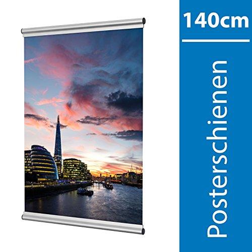 Leha Posterschienen, Posterclip, Plakatschienen Set 140cm Aluminium Eleganz