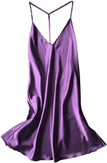 Women Sexy Satin Sleepwear Babydoll Lingerie Nightdress Pajamas Nightgown New